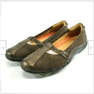Clark Unstructured Women's Loafers Size 6.5 Brown